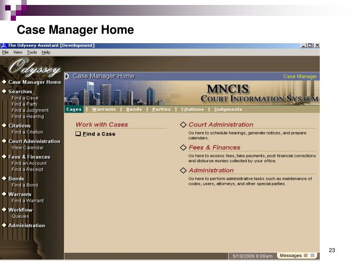 Case Manager Home