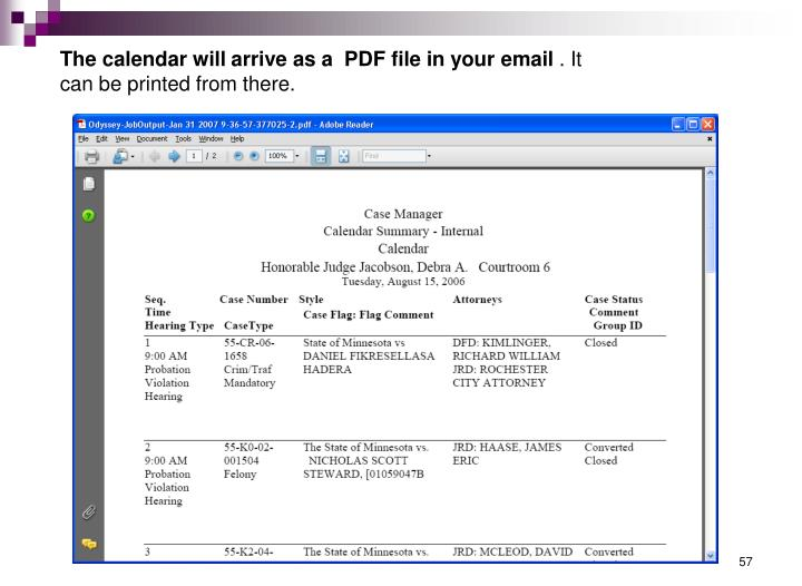 The calendar will arrive as a  PDF file in your email
