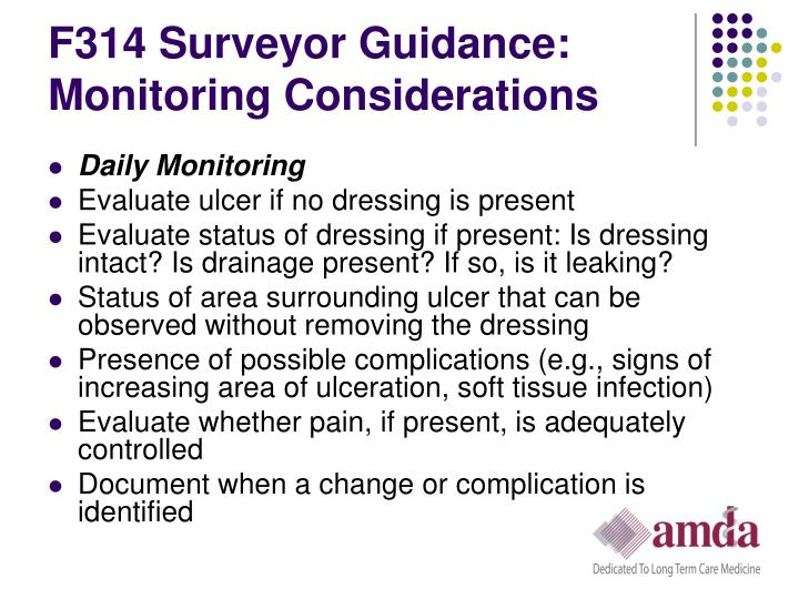 F314 Surveyor Guidance: Monitoring Considerations