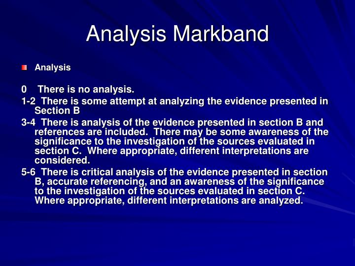 Analysis Markband