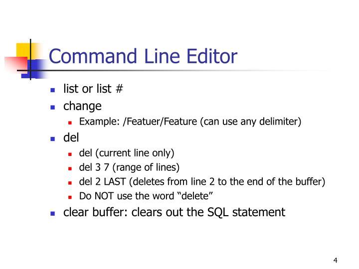 Command Line Editor