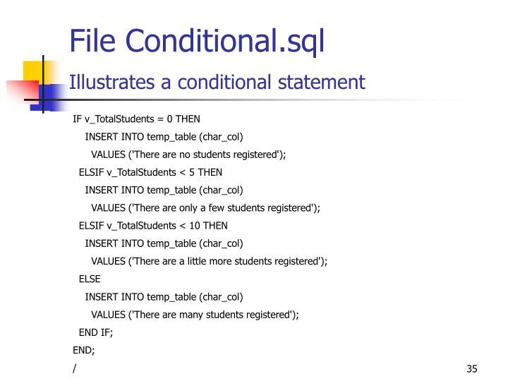 File Conditional.sql