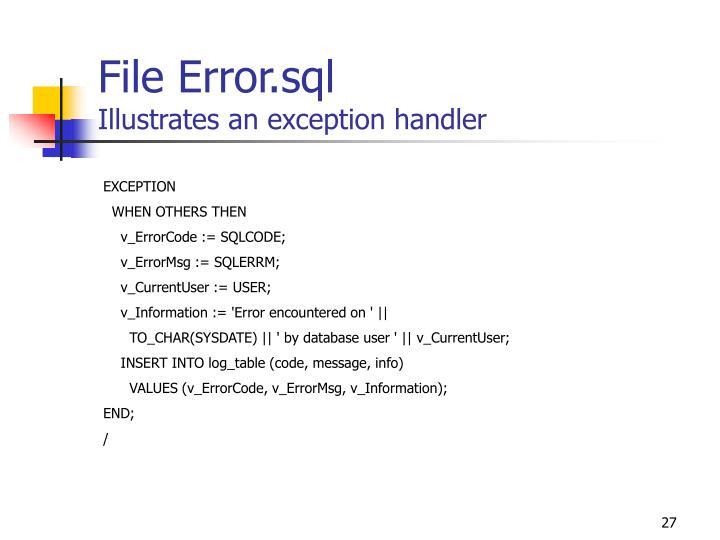File Error.sql