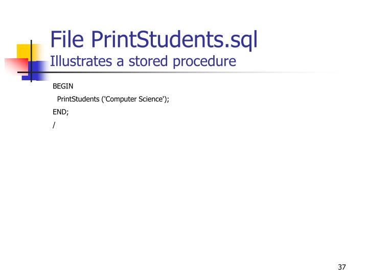 File PrintStudents.sql