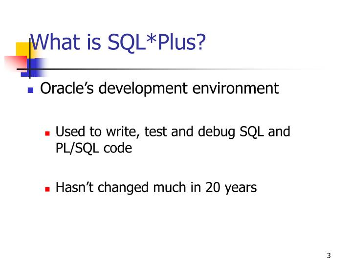 What is sql plus