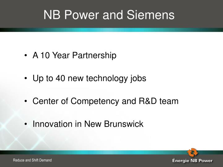 NB Power and Siemens