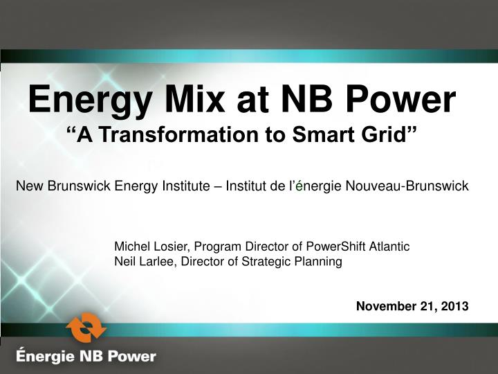 Energy Mix at NB Power
