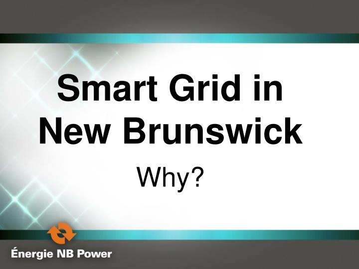Smart Grid in New Brunswick