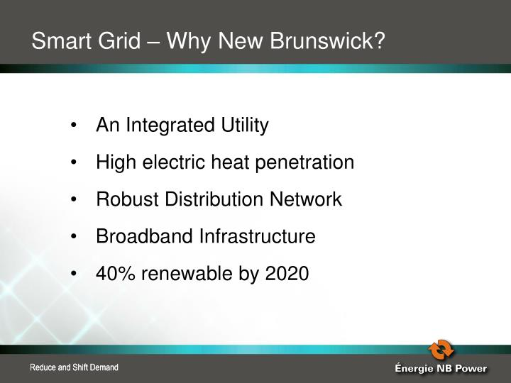 Smart Grid – Why New Brunswick?