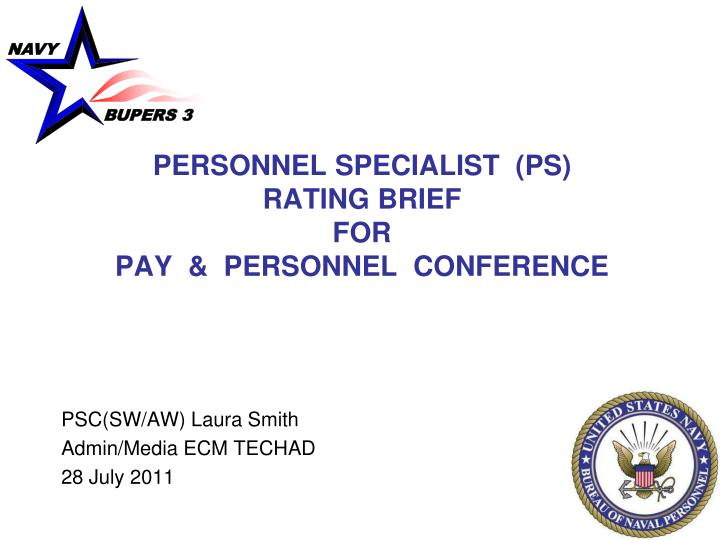 PERSONNEL SPECIALIST  (PS)