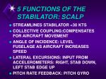 5 functions of the stabilator scalp