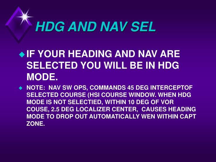 HDG AND NAV SEL