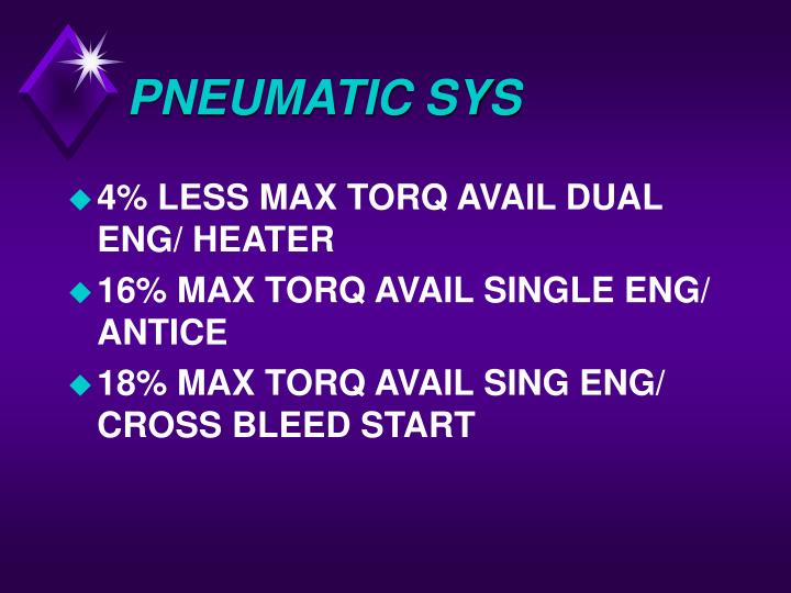 PNEUMATIC SYS