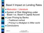 basel ii impact on lending rates