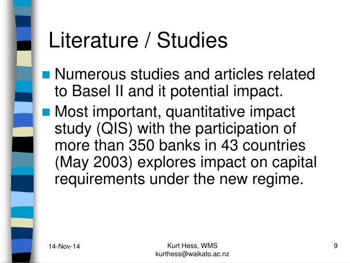 Literature / Studies