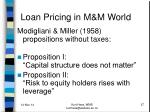 loan pricing in m m world1