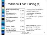 traditional loan pricing 1