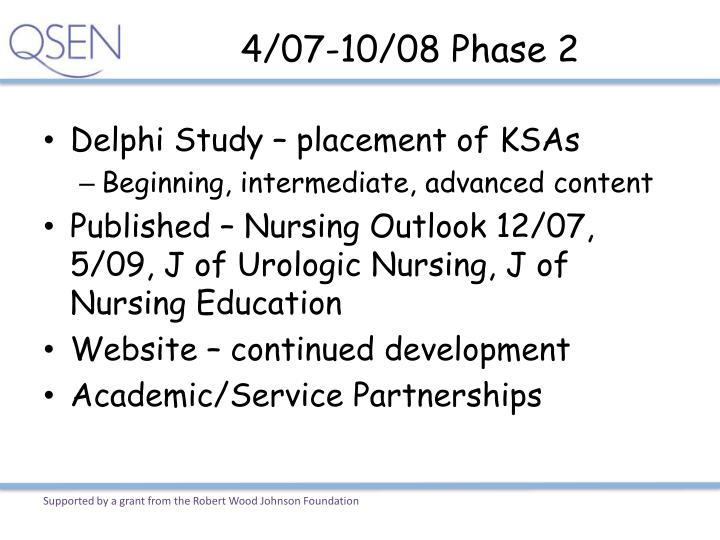 4/07-10/08 Phase 2