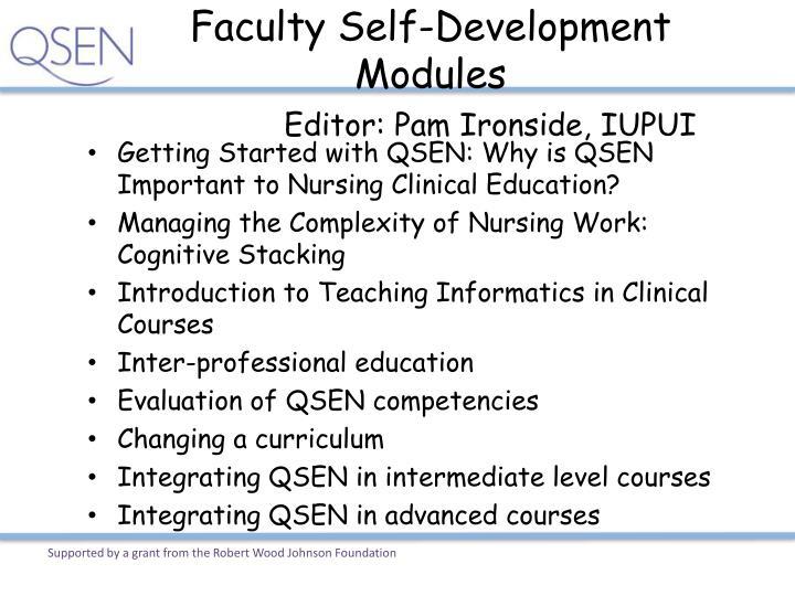 Faculty Self-Development Modules