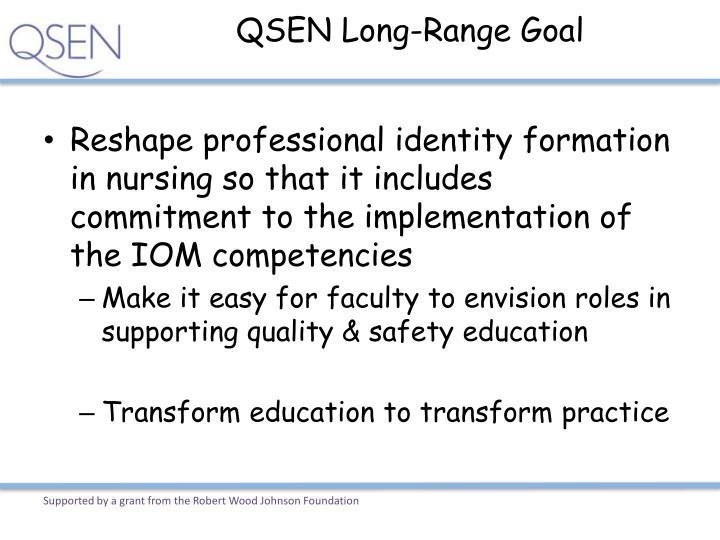 QSEN Long-Range Goal