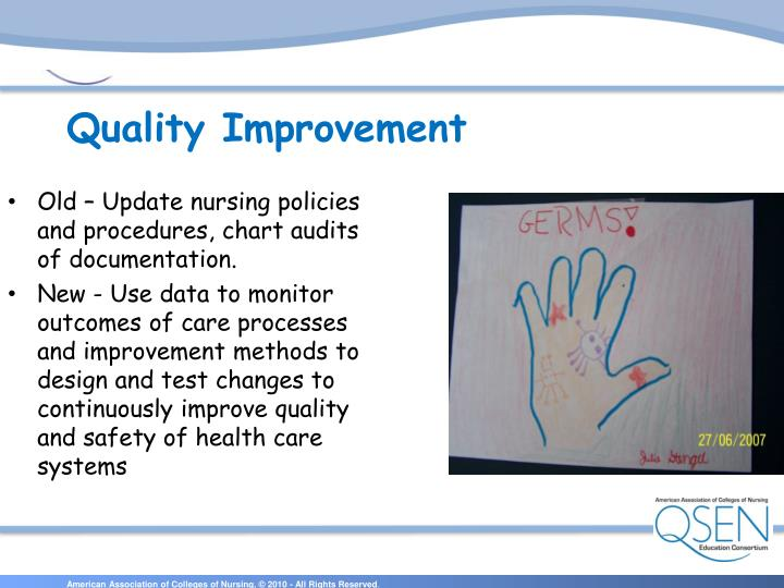 Old – Update nursing policies and procedures, chart audits of documentation.