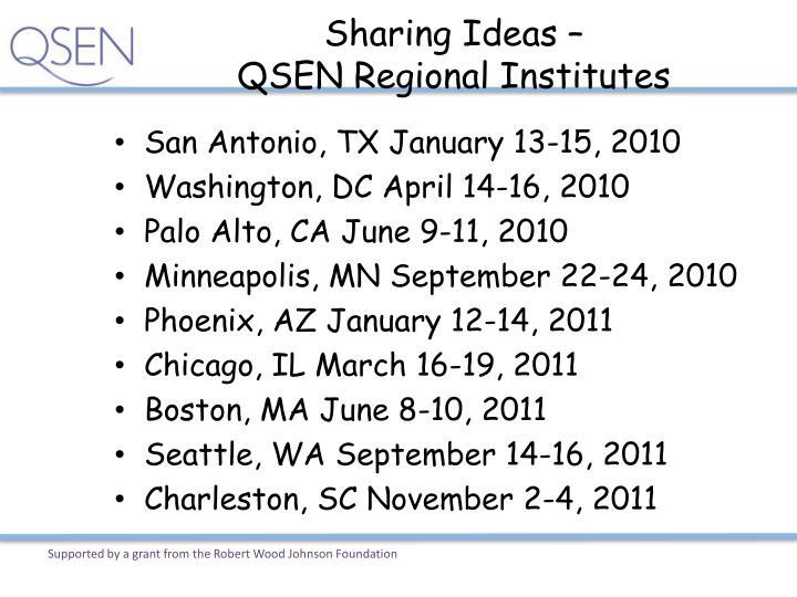 Sharing Ideas –
