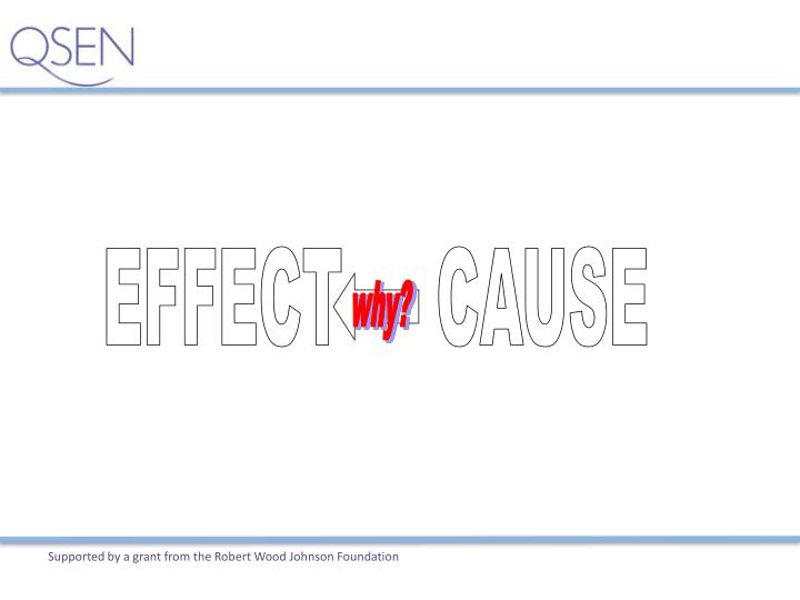 EFFECT     CAUSE