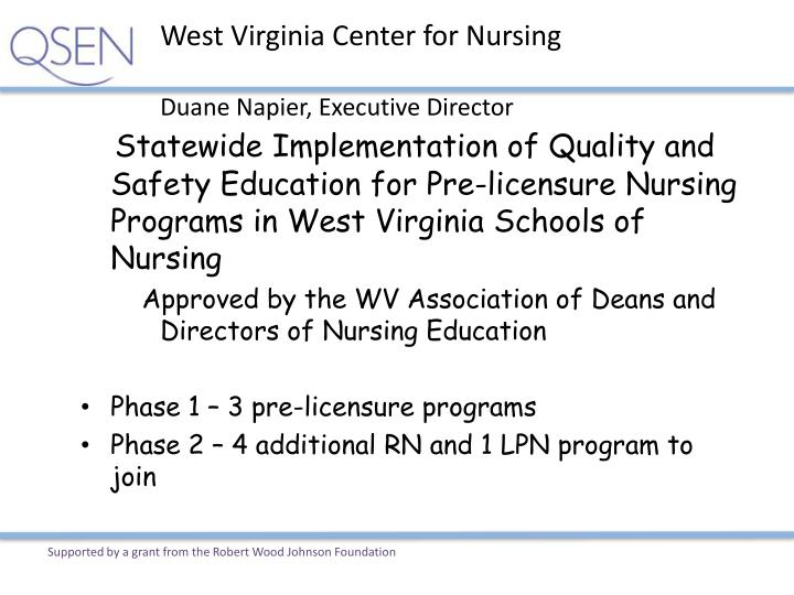 West Virginia Center for Nursing