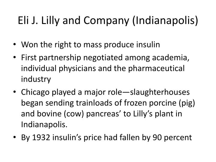 Eli J. Lilly and Company (Indianapolis)