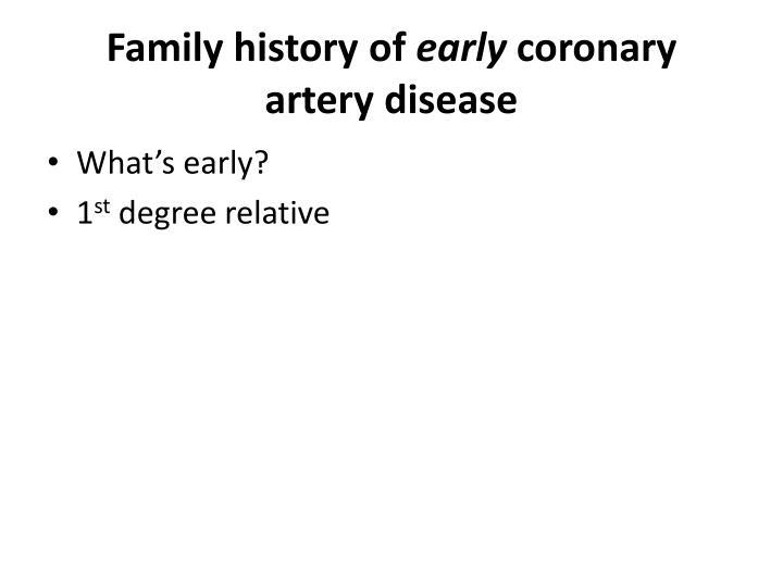 Family history of