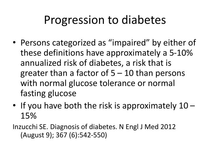 Progression to diabetes