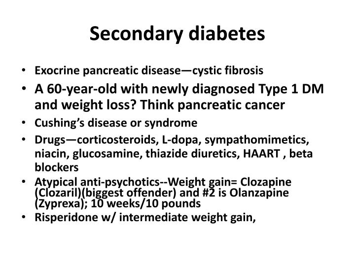 Secondary diabetes