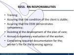 9253 rn responsibilities