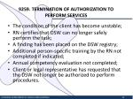 9259 termination of authorization to perform services