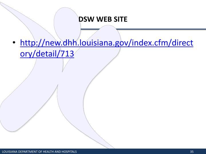 DSW WEB SITE