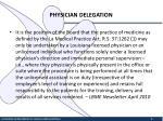 physician delegation