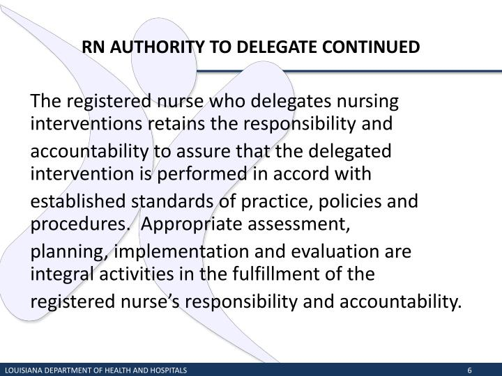 RN AUTHORITY TO