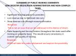 summary of public hearing comments dsw registry medication administration and non complex tasks