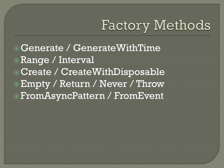 Factory Methods