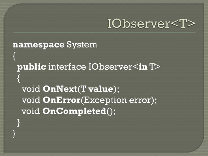 IObserver