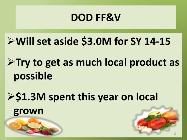 DOD FF&V