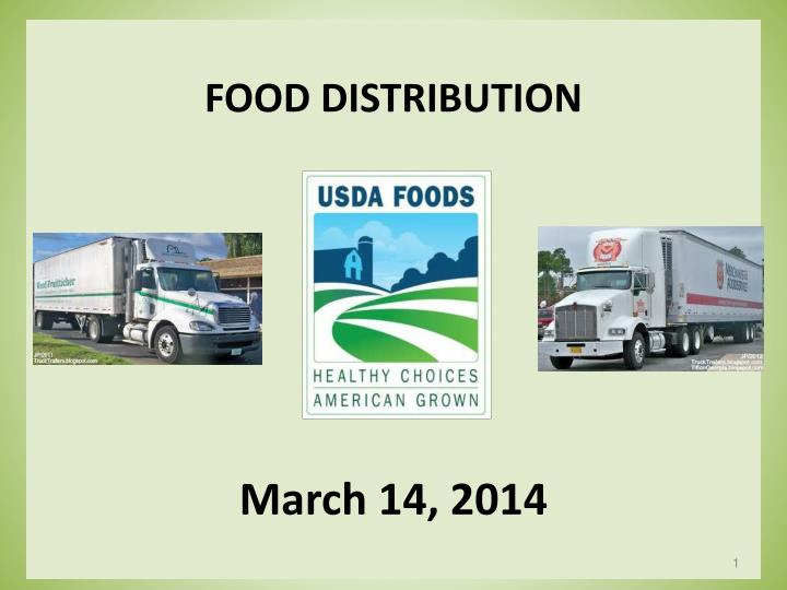 Food distribution march 14 2014