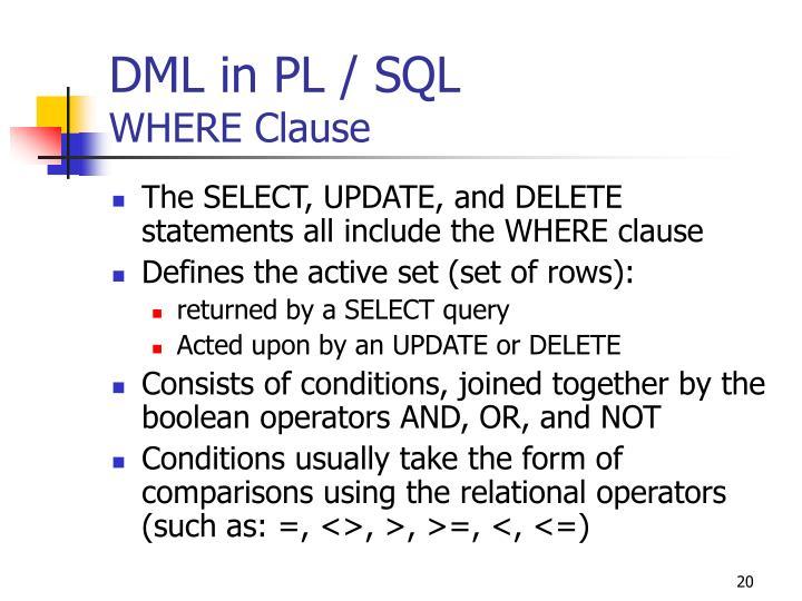DML in PL / SQL