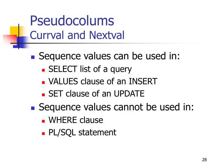 Pseudocolums