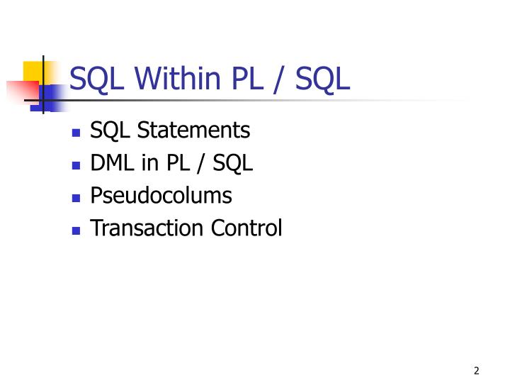 Sql within pl sql1