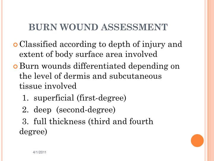 BURN WOUND ASSESSMENT