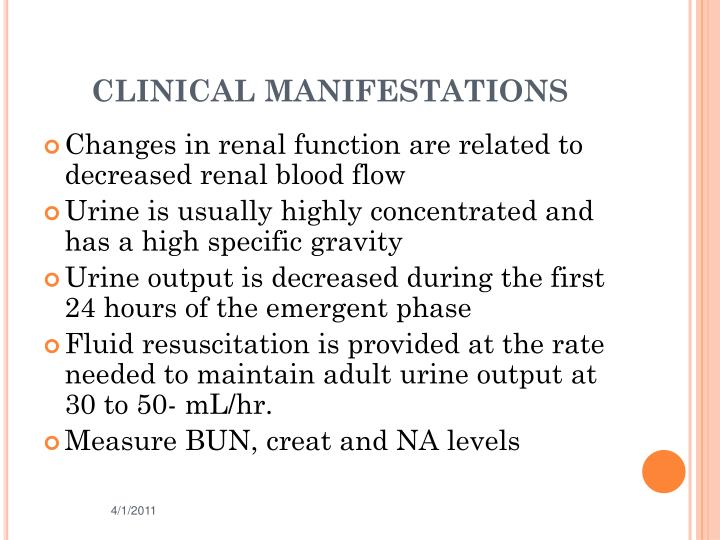 CLINICAL MANIFESTATIONS