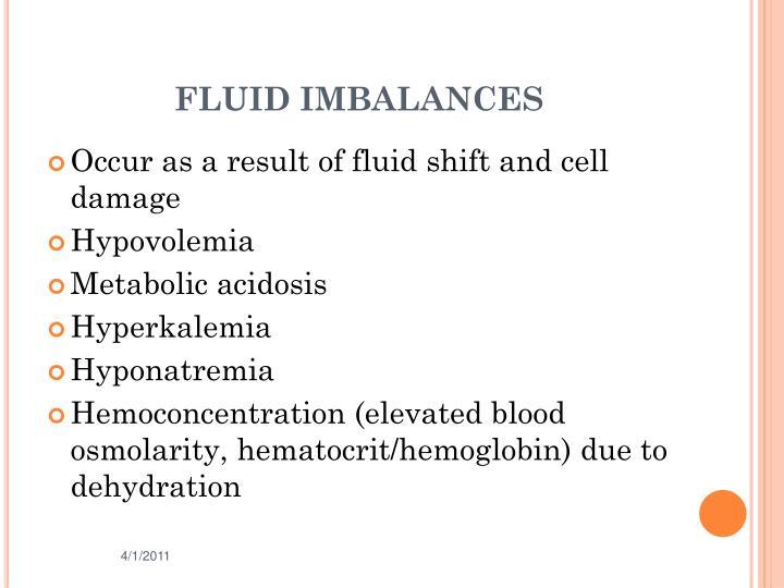 FLUID IMBALANCES