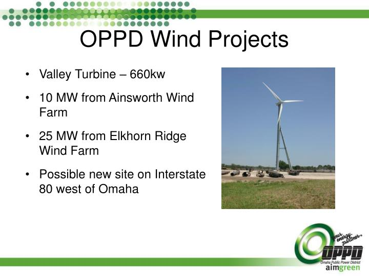 Oppd wind projects
