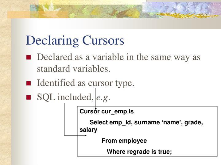 Cursor cur_emp is